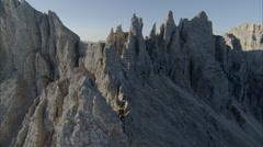 Mountain sharp edge Stock Footage
