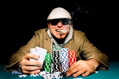 Aces in the hand Stock Photos