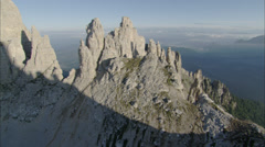 Mountain top blue sky Stock Footage