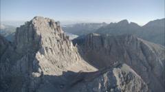 Grey mountain shadows Stock Footage