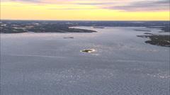 Frozen Tundra Sunset Stock Footage