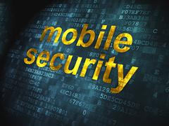 Safety concept: Mobile Security on digital background Piirros