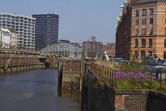 hamburg - toll canal - stock photo