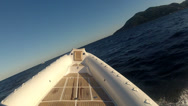 Stock Video Footage of Maxi rib navigating fast in the sea