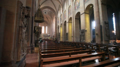 Stock Video Footage of Cathedral of mainz indoor