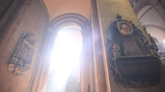 Cathedral of mainz indoor with incredible light Stock Footage