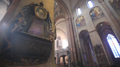 Cathedral of mainz indoor - stock footage