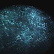 Stock Illustration of Technology concept: hex-code digital background