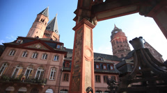 Cathedral of mainz Stock Footage