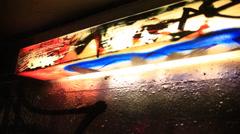 Lamp full of Graffiti Street Art Stock Footage
