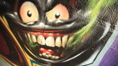 Graffiti Street Art Stock Footage