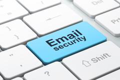 Turvallisuus: tietokoneen näppäimistön kanssa Email Security Piirros