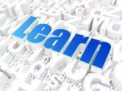 Education concept: Learn on alphabet Stock Illustration