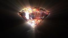 Diamond background Stock Footage