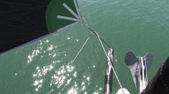 Sail moving on sailing boat - stock footage