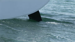 Detail of rudder of sailing boat Stock Footage