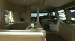 Main deck on luxury yacht Stock Footage