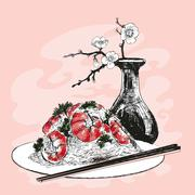 Still life. Hand drawn illustration. - stock illustration