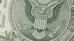 Dollar bill macro rotating - stock footage