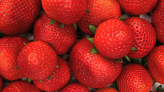 Strawberry Pile Slider Close Up Stock Footage