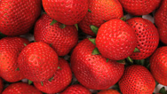 Stock Video Footage of Strawberry Pile Slider Close Up