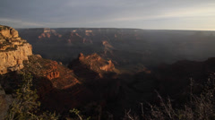 Grand canyon view along the desert view Stock Footage