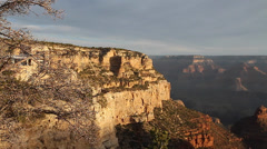 Pan of grand canyon view along the desert view Stock Footage