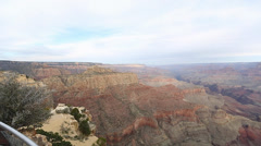 Pan at the desert viewpoint grand canyon 2 Stock Footage