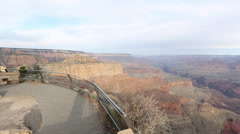 Pan at the desert viewpoint grand canyon Stock Footage