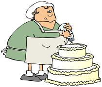 Cake decorator - stock illustration