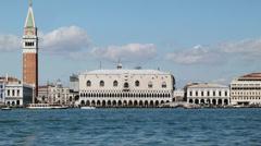 0333 Venice St. Mark's square from the San Giorgio Island. Stock Footage
