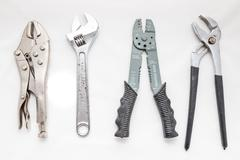 Adjustable wrenches Stock Photos