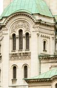 Tower from the facade of the Alexander Nevsky Cathedral, Sofia, Stock Photos