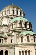 Vertical general view of the Alexander Nevski Cathedral, Sofia, Stock Photos
