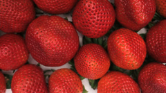 Strawberry Fruit Top View Slider Close Up Stock Footage