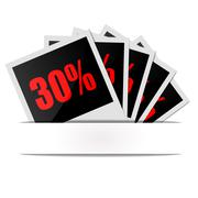 Clearance discount interest - stock illustration