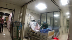 Intensive care unit patient Stock Footage