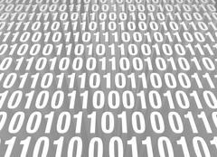 Retro computer code background Piirros