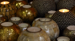 Decorative and  relaxation candles Stock Footage