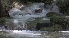 Fast Flowing Stream Stock Footage