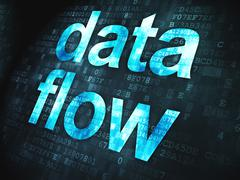 Information concept: Data Flow on digital background - stock illustration