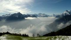 Alps in Switzerland - aerial flight Stock Footage