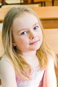 Younger schoolgirl Stock Photos