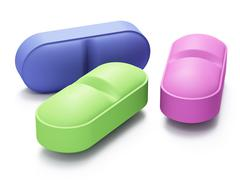 Tree color pills Stock Illustration