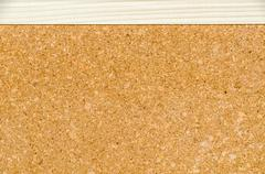 Bulletin board or notice board made from cork Stock Photos