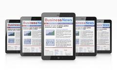Stock Illustration of Digital news on tablet computer screen