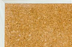 bulletin board or notice board made from cork - stock photo