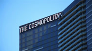 Stock Video Footage of Cosmopolitan tower in Las Vegas, Nevada on a clear day.