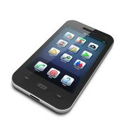 Stock Illustration of Beautiful highly-datailed black smartphone