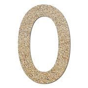 Font rough gravel texture numeric 0 Stock Photos